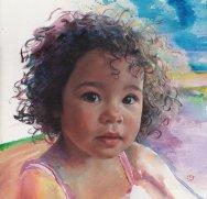Portrait of Summer. Portrait commission. British artist Marina Kim