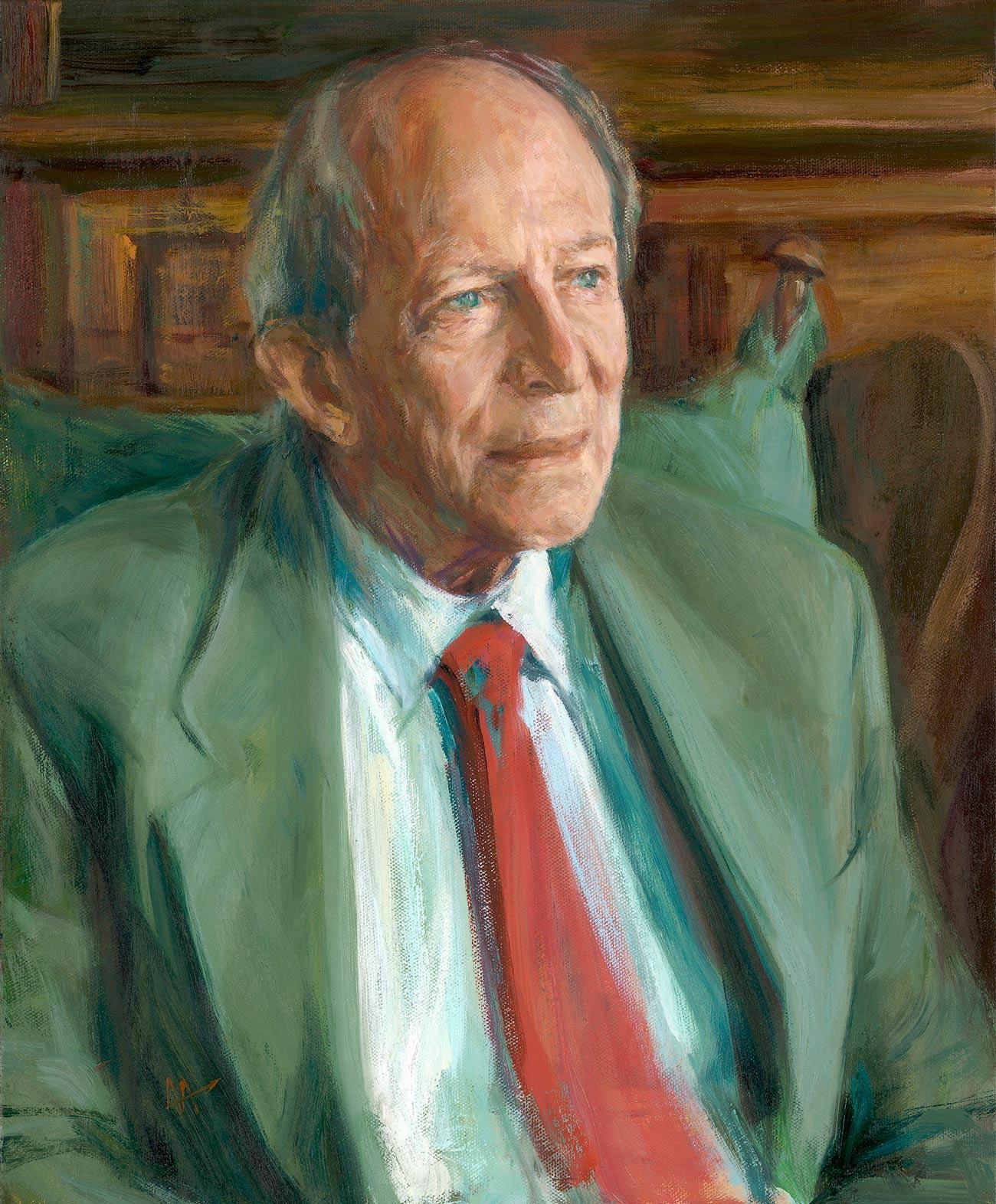 Portrait of Peter Allen. Commission portrait by British artist Marina Kim