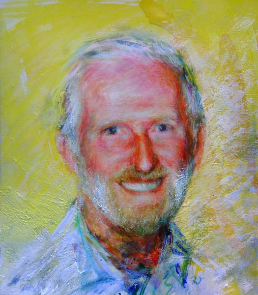 Portrait of Bill Doherty. Commission portrait by Marina Kim