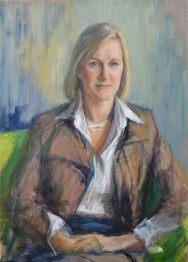 Portrait of Ariane Comstive. Portrait drawing. Pencil on paper. Portrait commission by artist Marina Kim