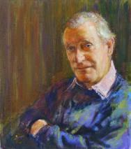 Portrait of Basil Phillips. Commission portrait by Marina Kim