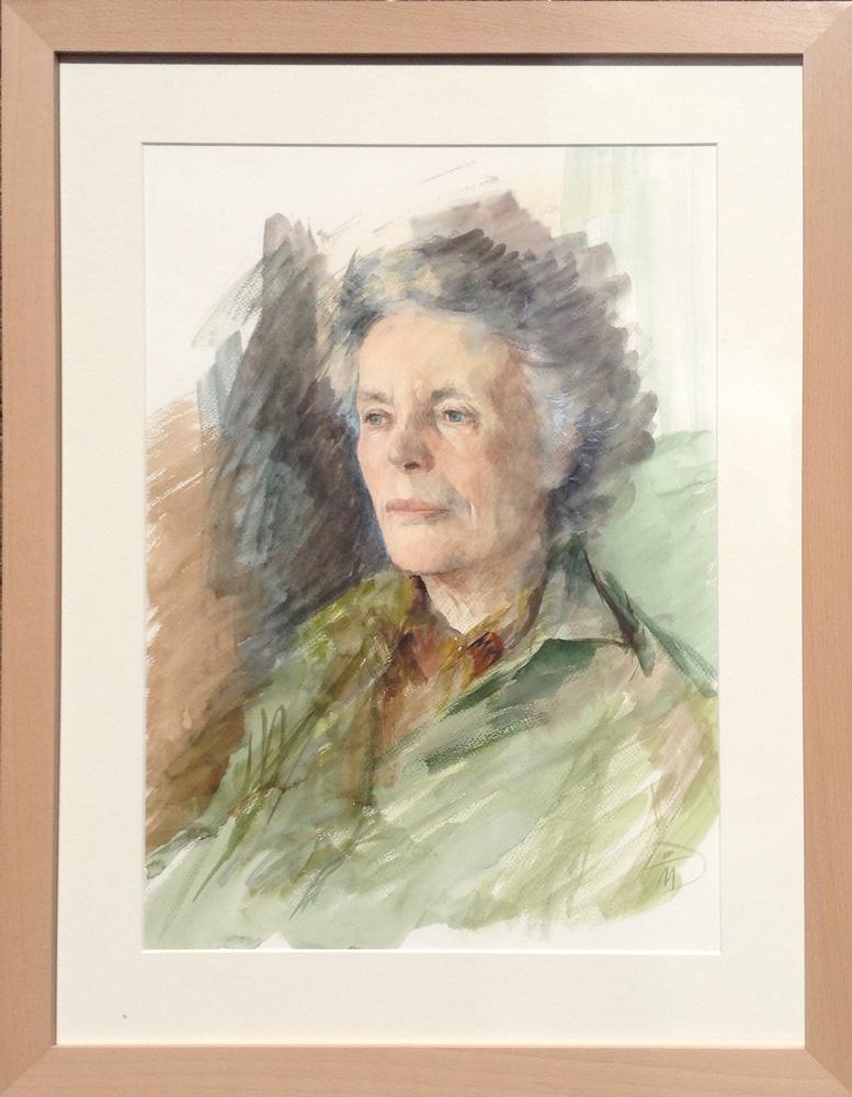 Portrait of Elaine Robertson. Portrait commission painting by Marina Kim