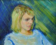 Portrait of Hannah Jones. Commission portrait by Marina Kim