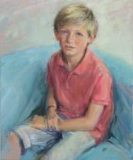Portrait of Seb. Portrait commission by artist Marina Kim