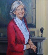 Portrait of Susan Harvey. Oil on canvas. Portrait commission painting by Marina Kim