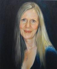 Portrait of Sandra Pavey. Oil on canvas. Portrait commission painting by Marina Kim