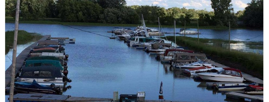marina, nid d'Aigle, lac st-pierre