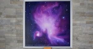 """""""Mr Blue Sky"""" quadro di Marina Ravaioli - Anno 2018 - Dimensioni 30 x 30 cm Olio su legno MDF, finitura opaca. Disponibile. Soggetto area M42 della Nebulosa di Orione"""