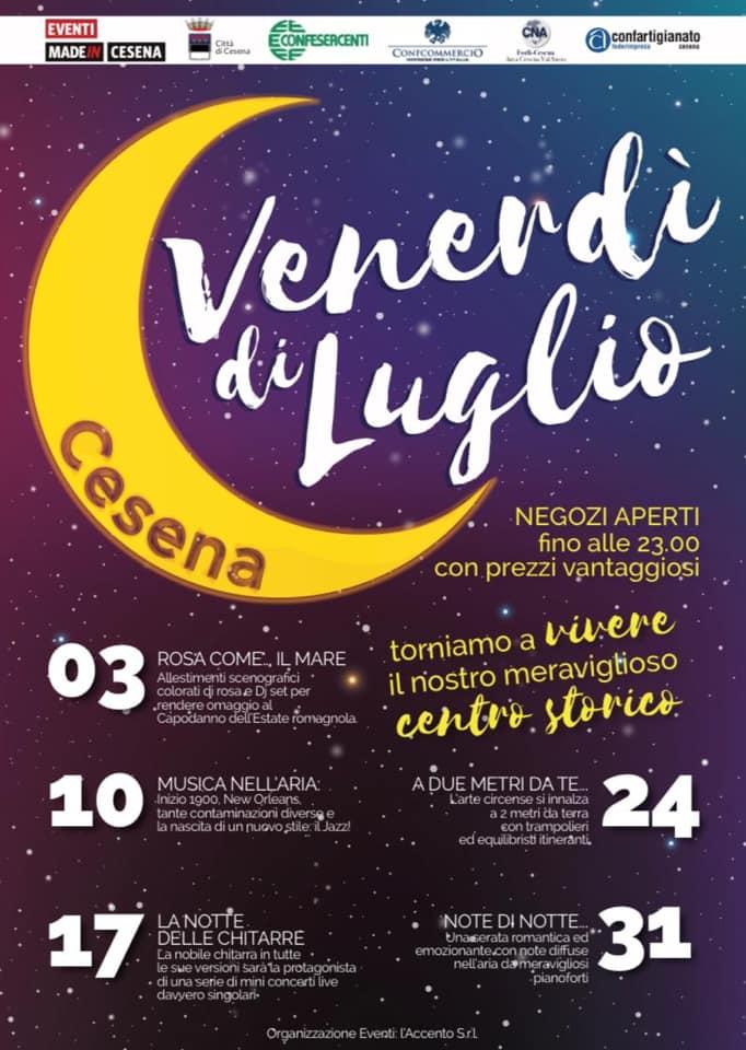 Venerdì di Luglio 2020 a Cesena. Io sarò in Via Righi con quadri e carte dipinte