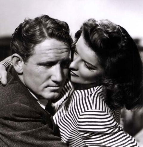 Spencer Tracy y Katharine Hepburn
