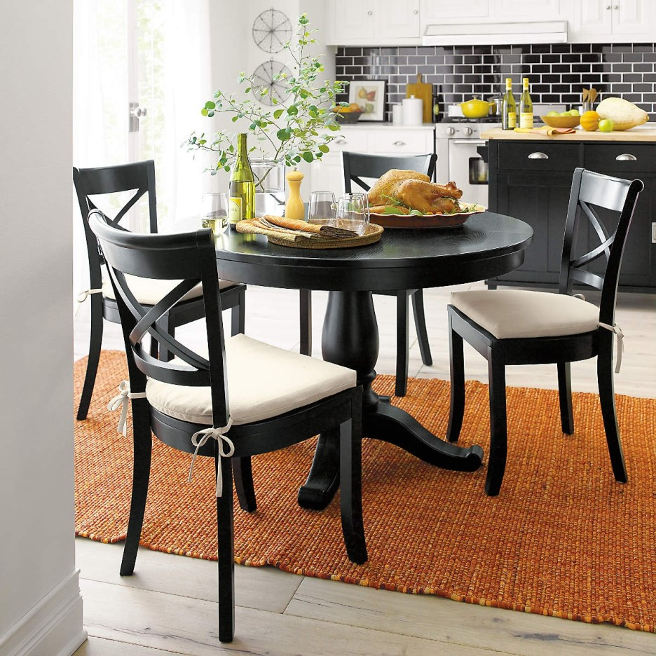 avalon 45 black round extension dining table reviews