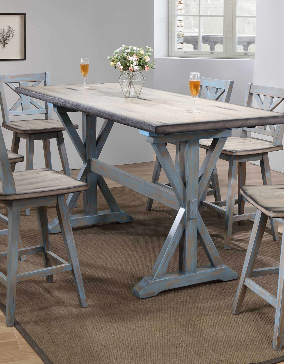 bernards summerville counter height dining table w 6 chairs