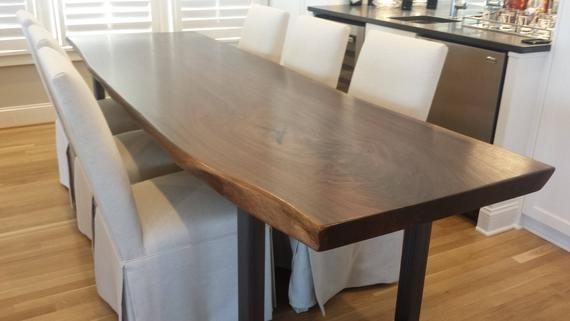 custom slab solid wood dining table for saeed