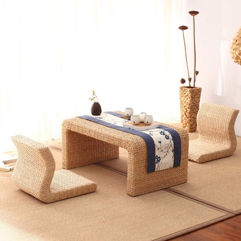 end tables coffee table rattan low table japanese style