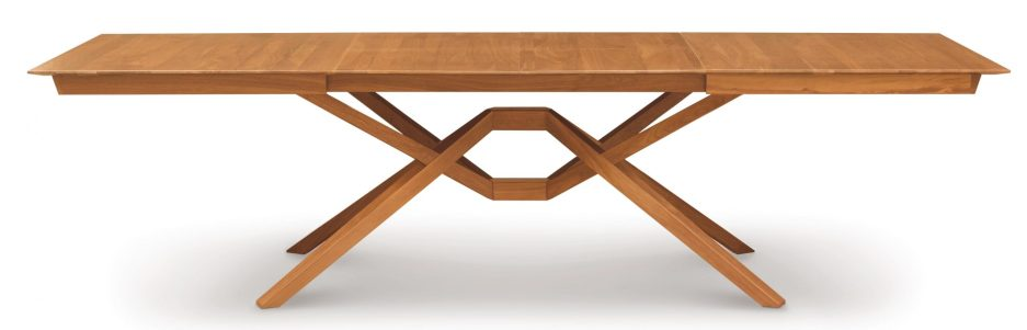 exeter extendable solid wood dining table