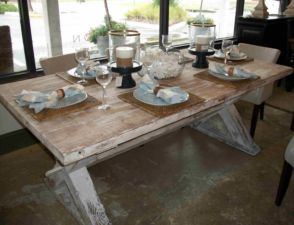 french style distressed country farmhouse dining table made
