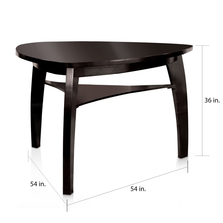 furniture of america hace modern black 54 inch counter dining table