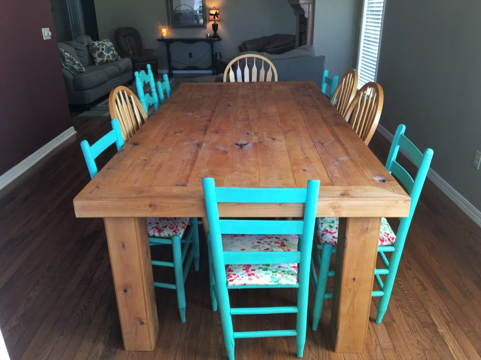 hand crafted dinning table rustic distressed knotty alder