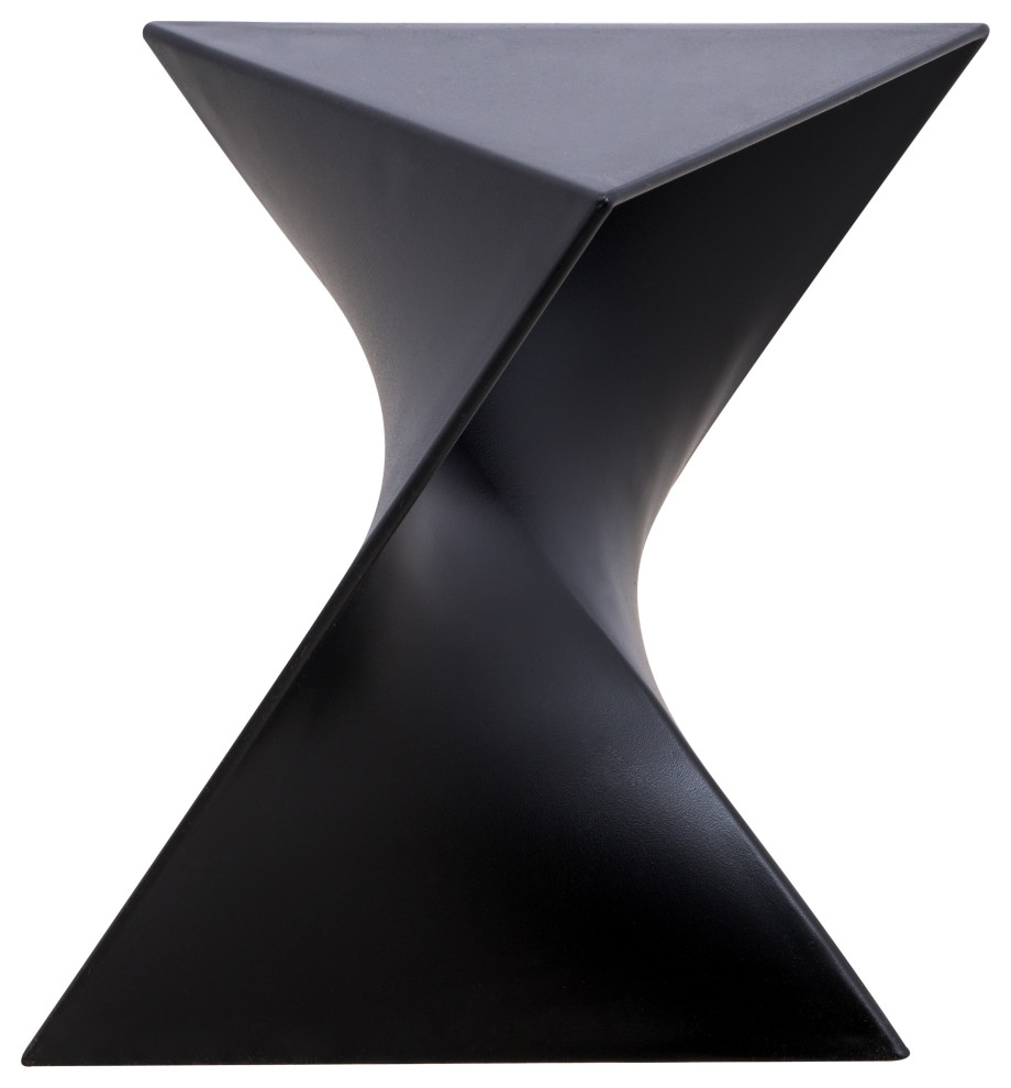 leisuremod randolph modern triangle accent side end table black