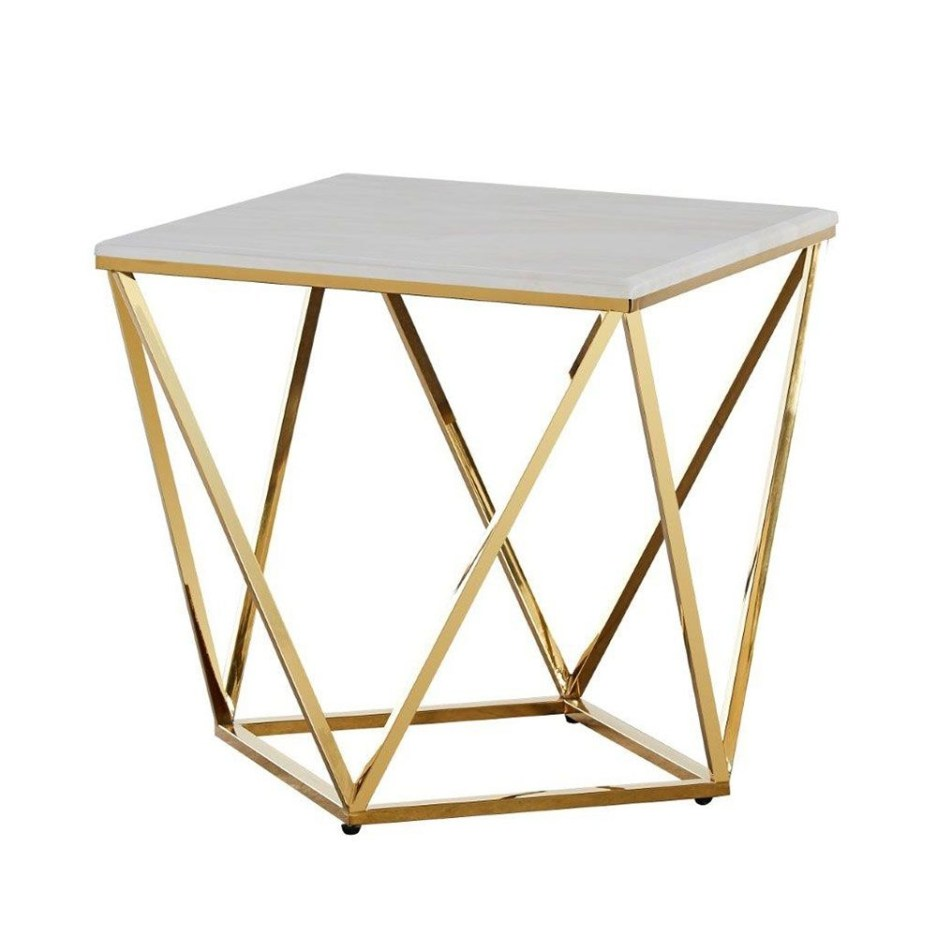 luis end table white golden