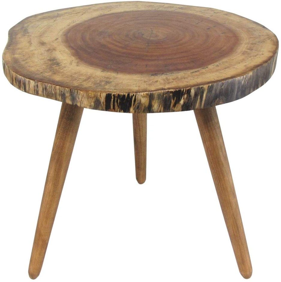 natural wood tree trunk slab accent endcoffee table