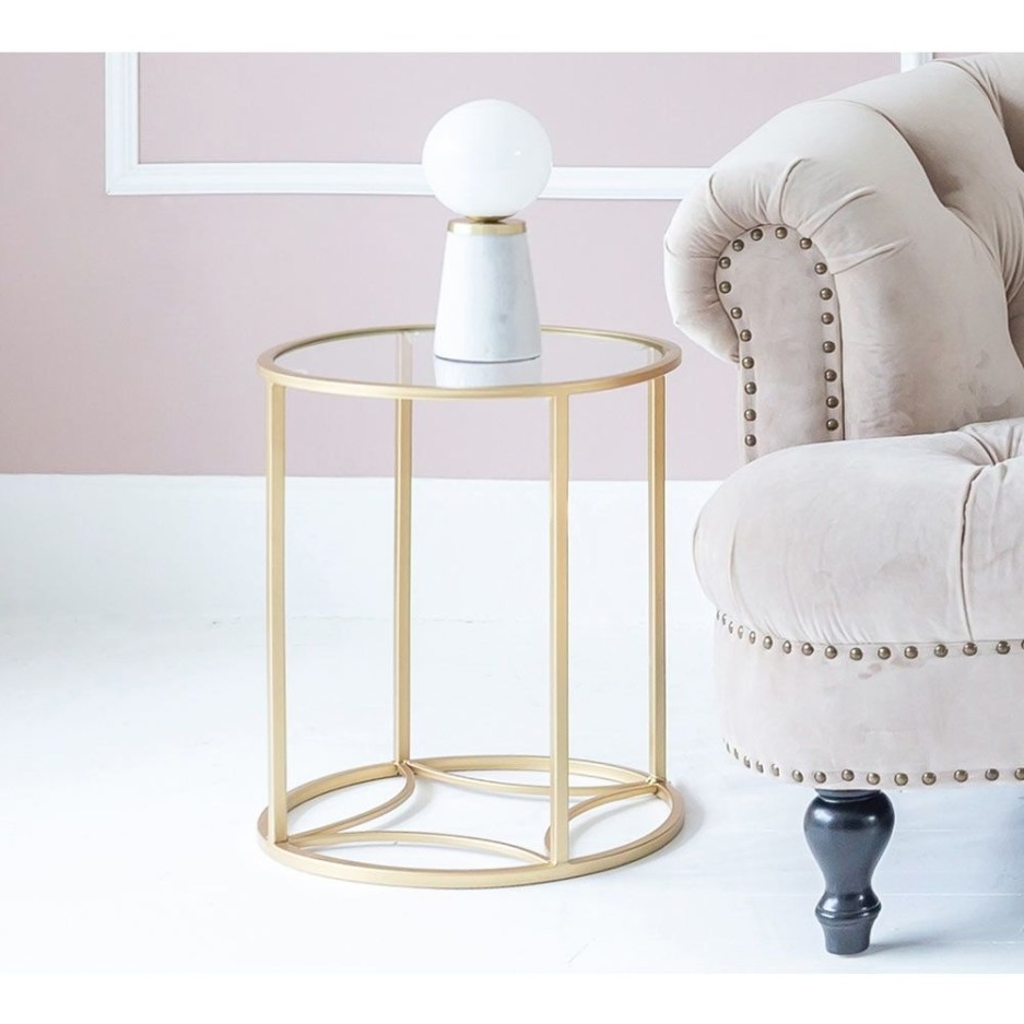 night fever gold side table