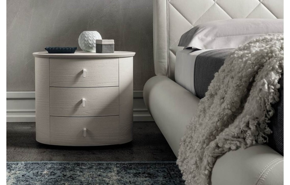 oval bedside table cemi napol