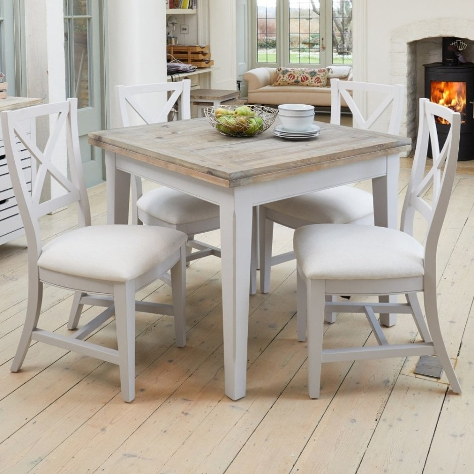 paige square extending dining table distressed grey limed oak