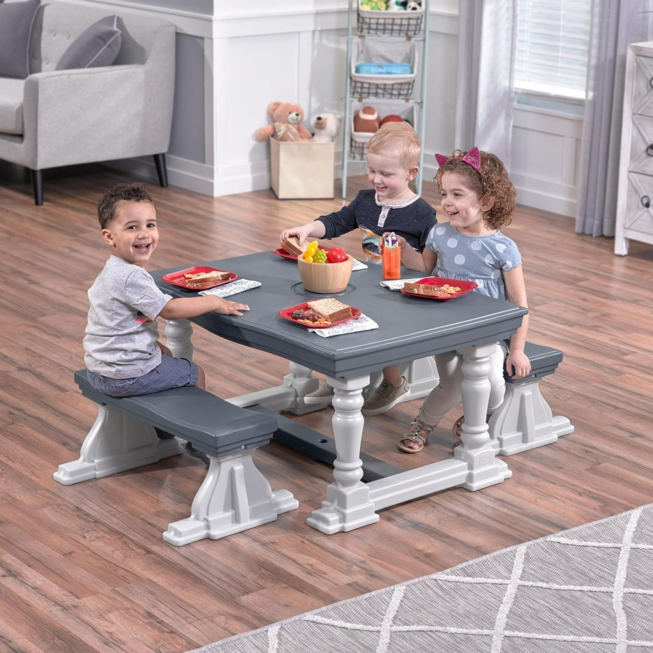 step2 3 piece farmhouse table bench set