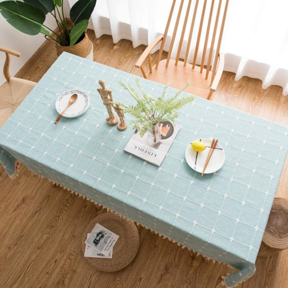 tablecloths simple embroidered cotton plaid tablecloth