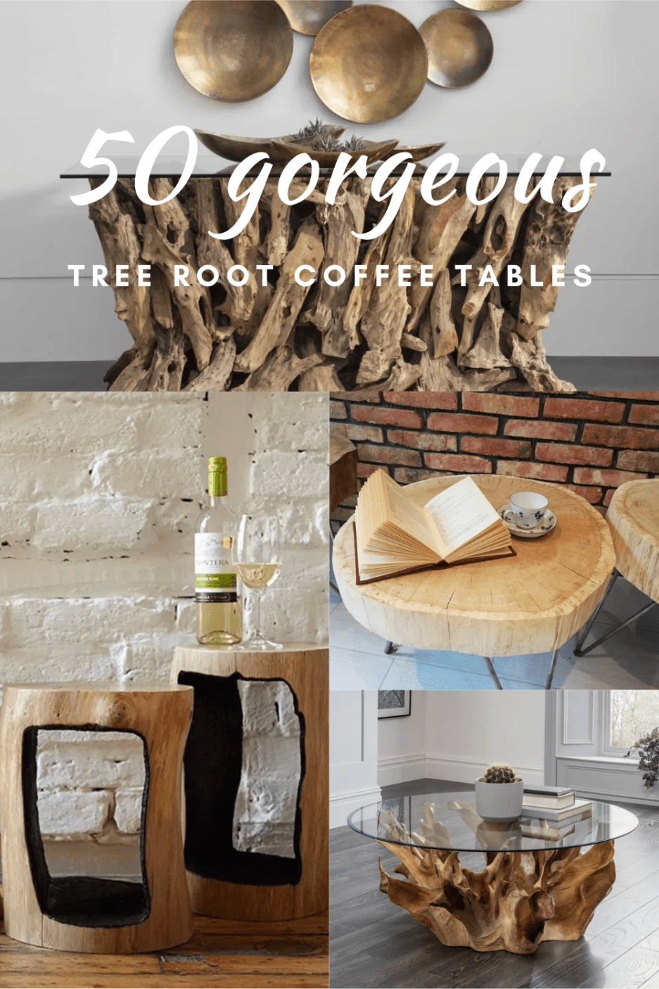 tree root coffee tables