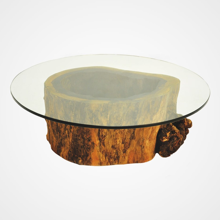 tree trunk glass coffee table hollow trunk coffee table round glass top rotsen furniture