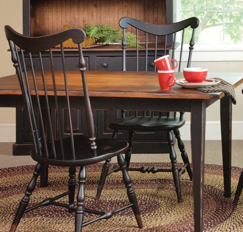 amish made wooden dining room furniture sets chairs tables