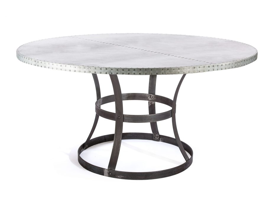 buy custom made zinc table zinc dining table madera steel