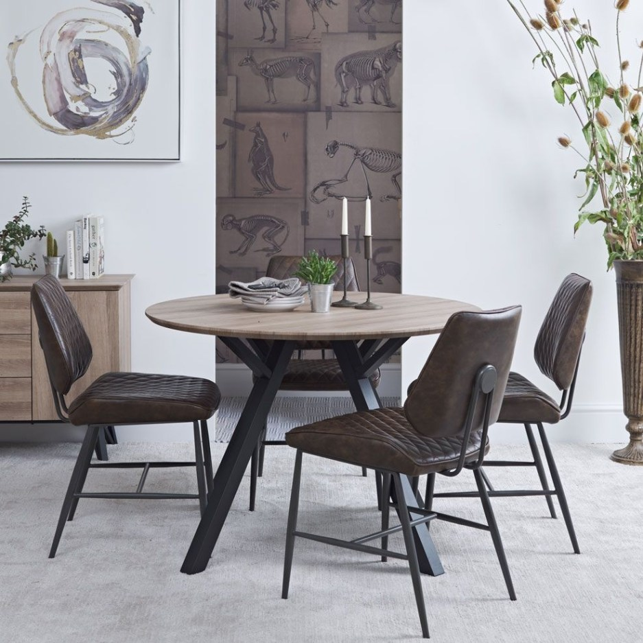 modena round dining table