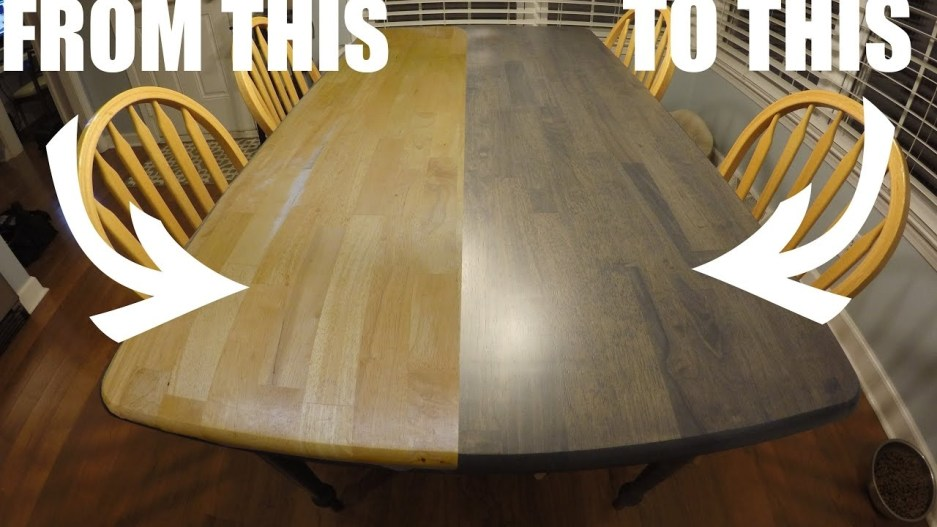 refinishing the kitchen table worn out craigslist to clean and modern