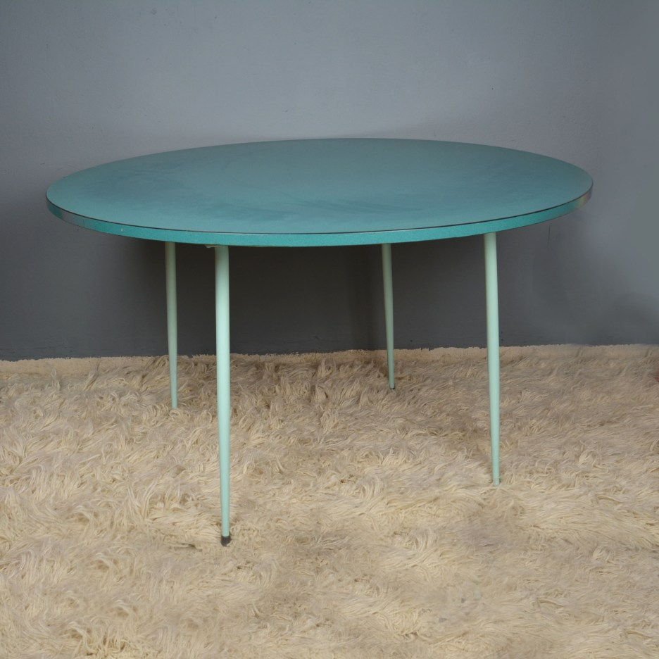 round formica and metal kitchen table
