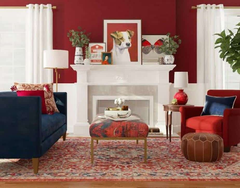 Decor Red Carpet Living Room ideas Color Themed
