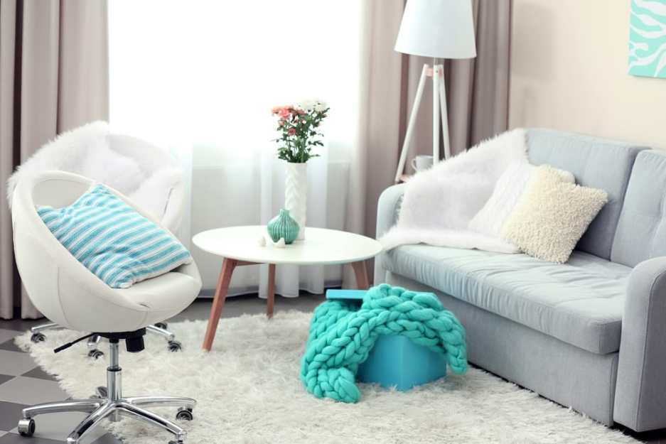 Sofa and Chair Furniture Design Turquoise Accents