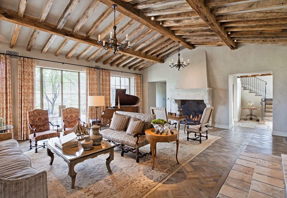 Tuscany Style Living Room Large Decor and Furniture Wood ideas