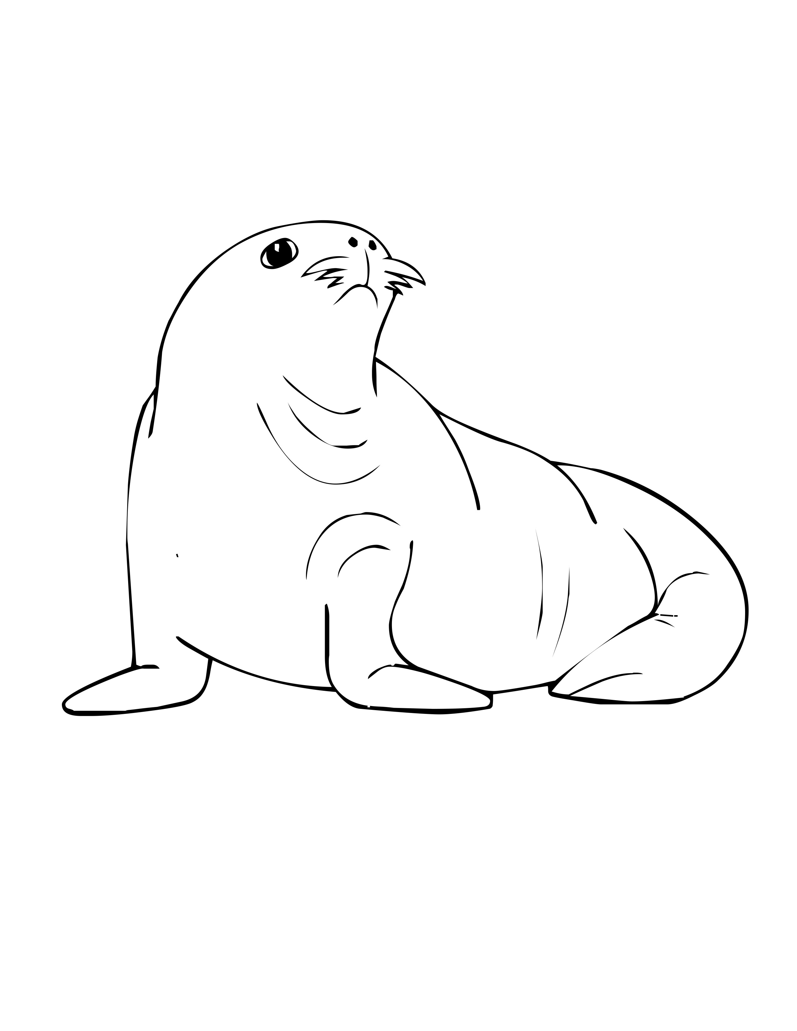 Cartoon Sea Animals Coloring Pages