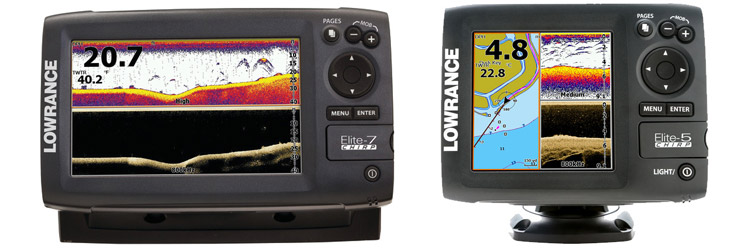 New Lowrance Elite Chirp Chart Plotters and Fish Finders