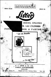 Lister and Lister Petter Diesel Engine Manuals  MARINE