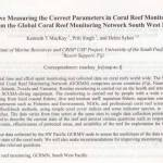 Are we Measuring the Correct Parameters in Coral Reef Monitoring? Lessons from the Global Coral Reef Monitoring Network South West Pacific Node