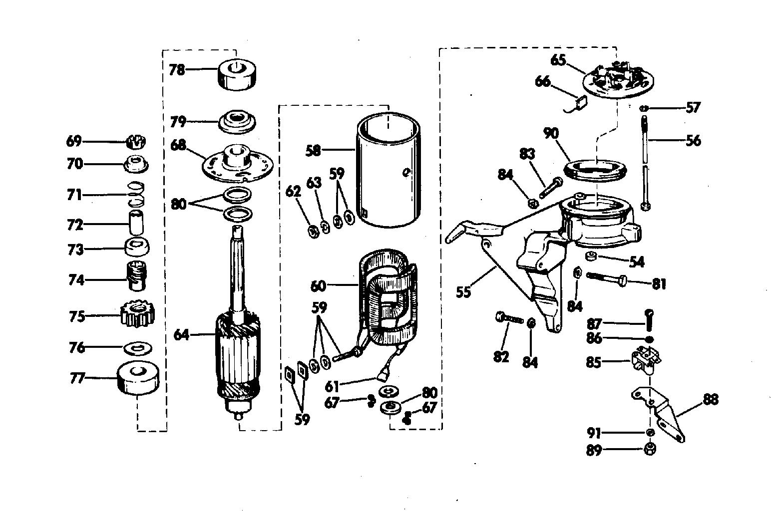 Electric Starting Kit 25 Hp Starter Motor Amp Bracket