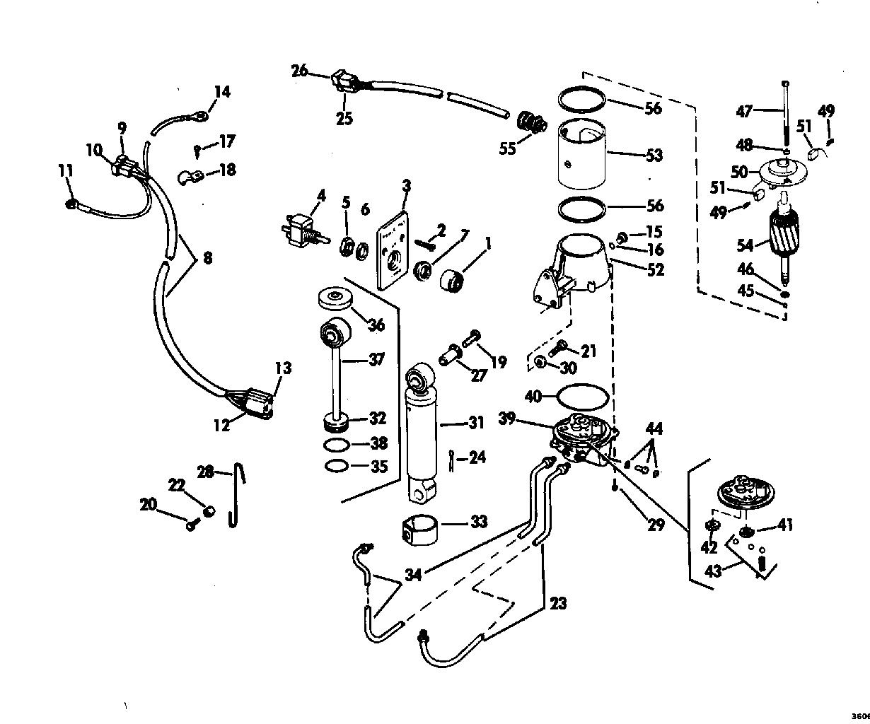 Power Tilt Kit 70 Long 85 115 Amp 135 Hp Electrical