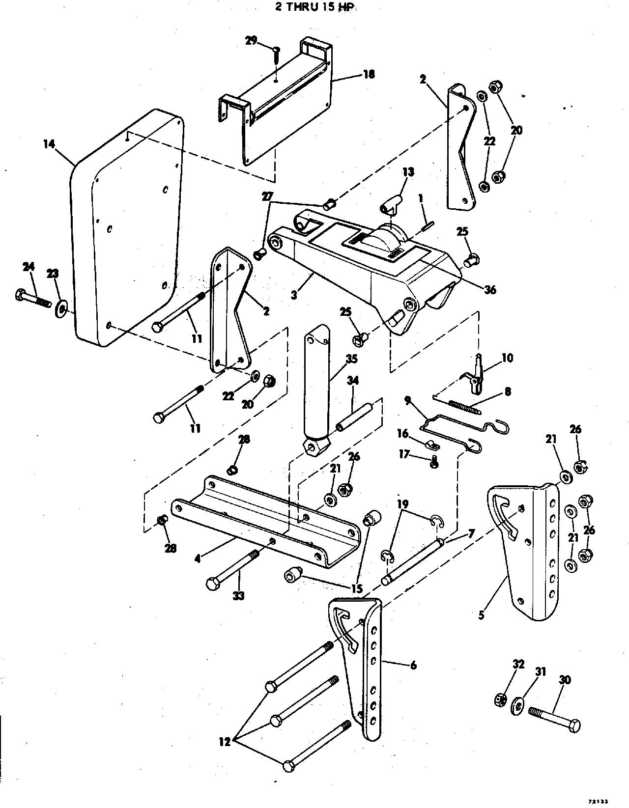 Auxiliary Motor Bracket Kit 2 Thru 15 Hp Miscellaneous