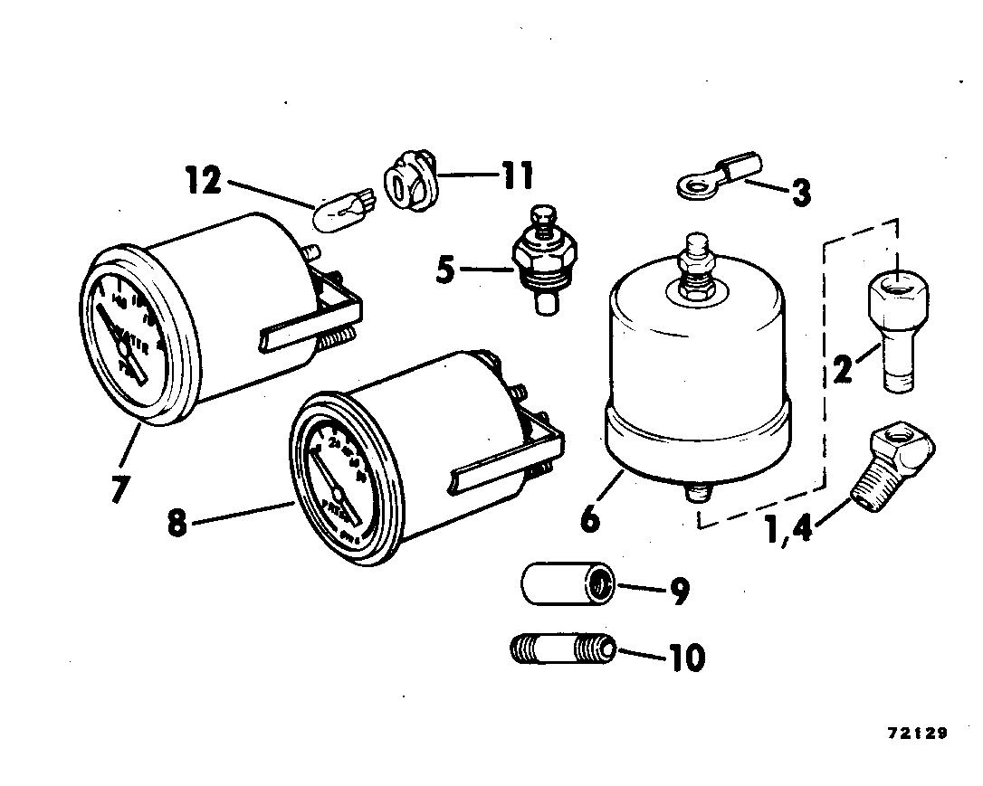 Oil Pressure Water Temp Gauge Kit Instruments