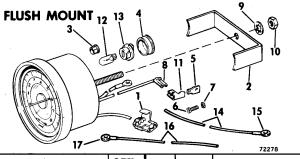 Tachometer Kitflush Mount 99235 Hp, Sail Drive4000 Rpm