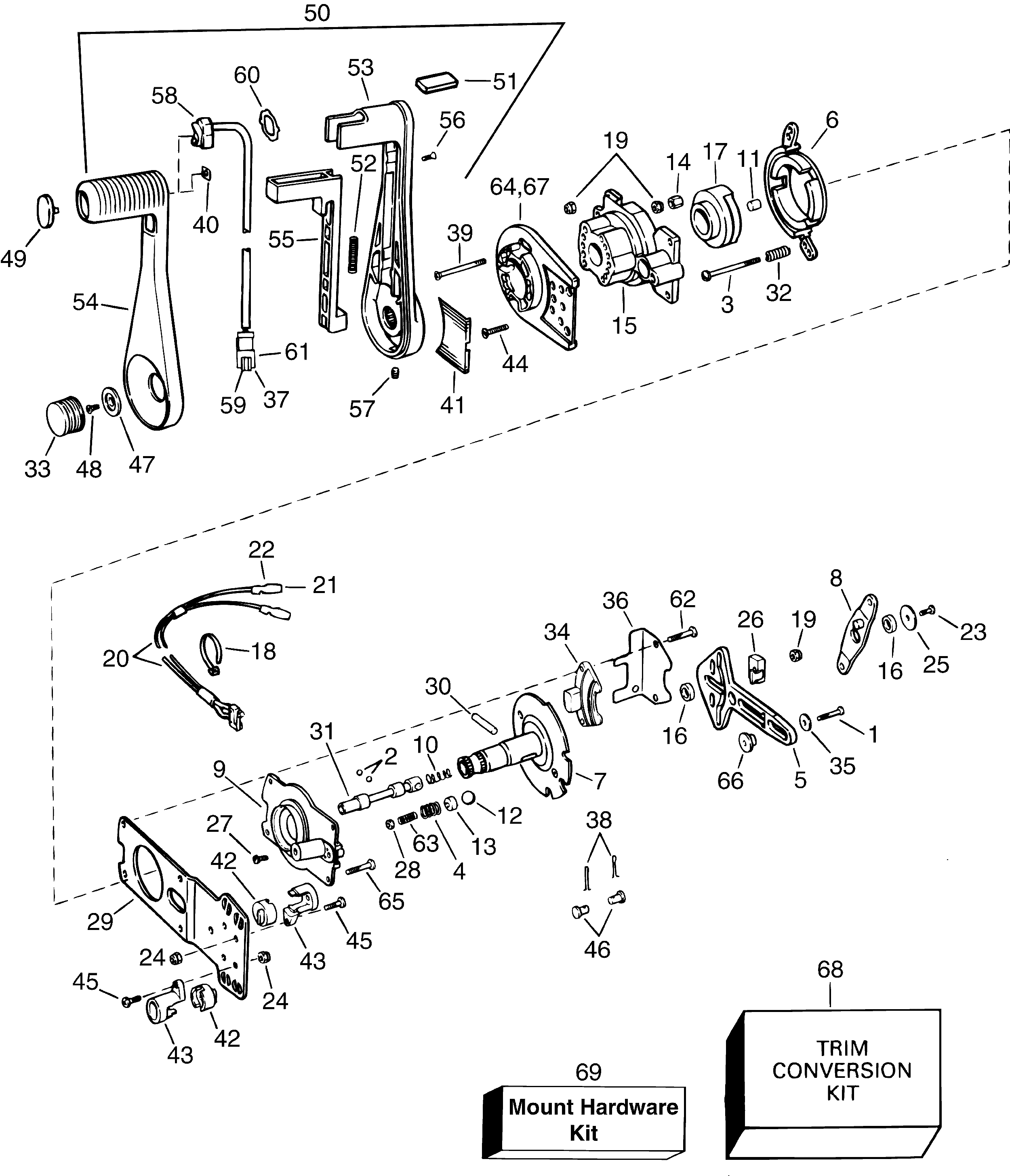 Evinrude Trolling Motor Parts Diagram
